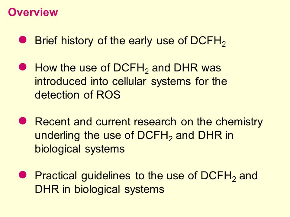 GSH, AscH  and NAD(P)H: will compete with DCFH 2 /DHR Depletion of these will result in greater DCFH 2 /DHR oxidation 2.