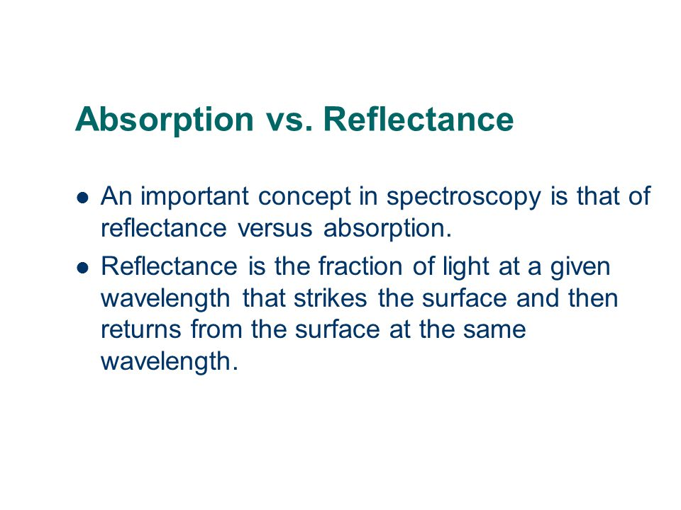 Absorption vs.
