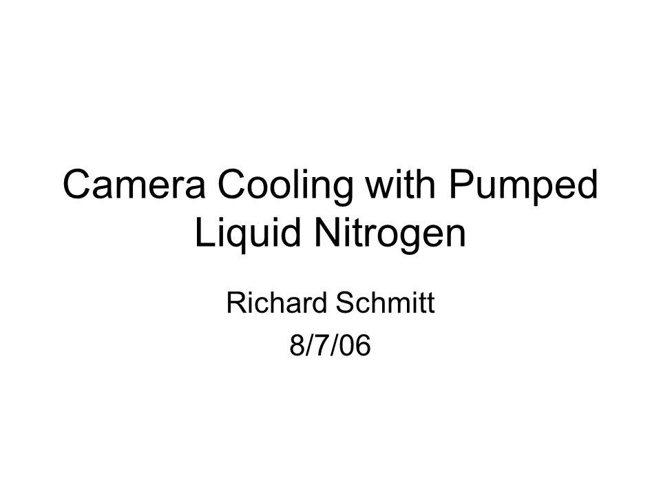 Camera Cooling with Pumped Liquid Nitrogen Richard Schmitt 8/7/06