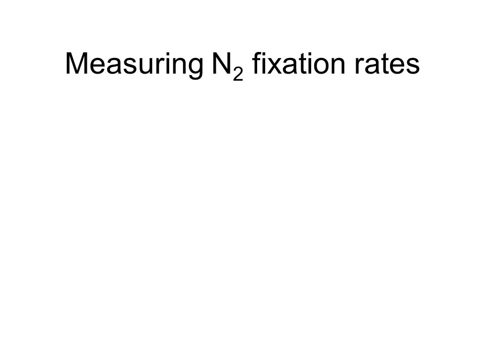 Measuring N 2 fixation rates