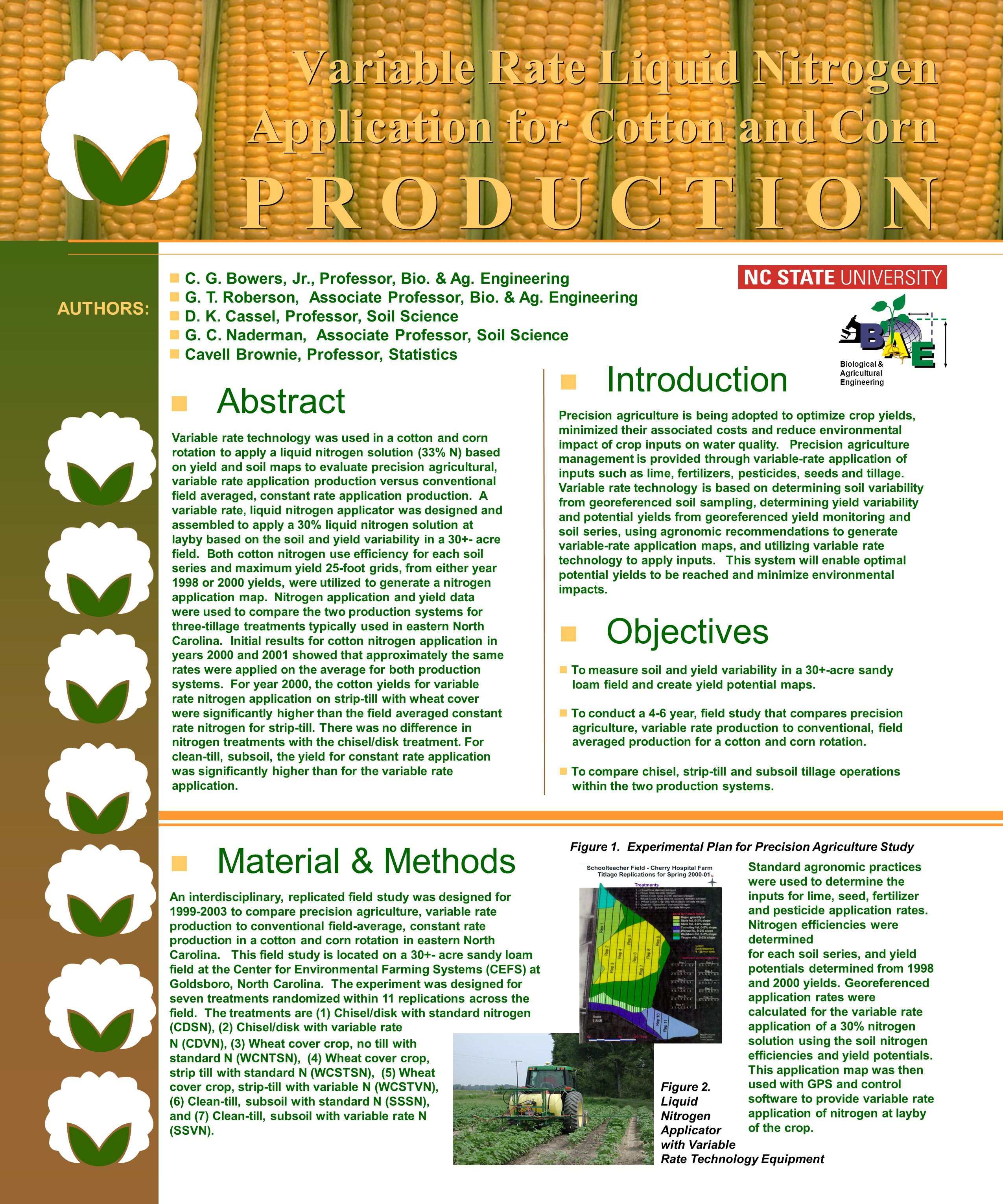 Variable Rate Liquid Nitrogen Application for Cotton and Corn P R O D U C T I O N C.
