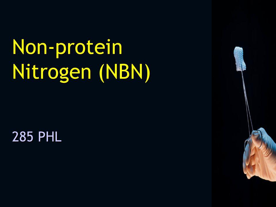 Non-protein Nitrogen (NBN) 285 PHL