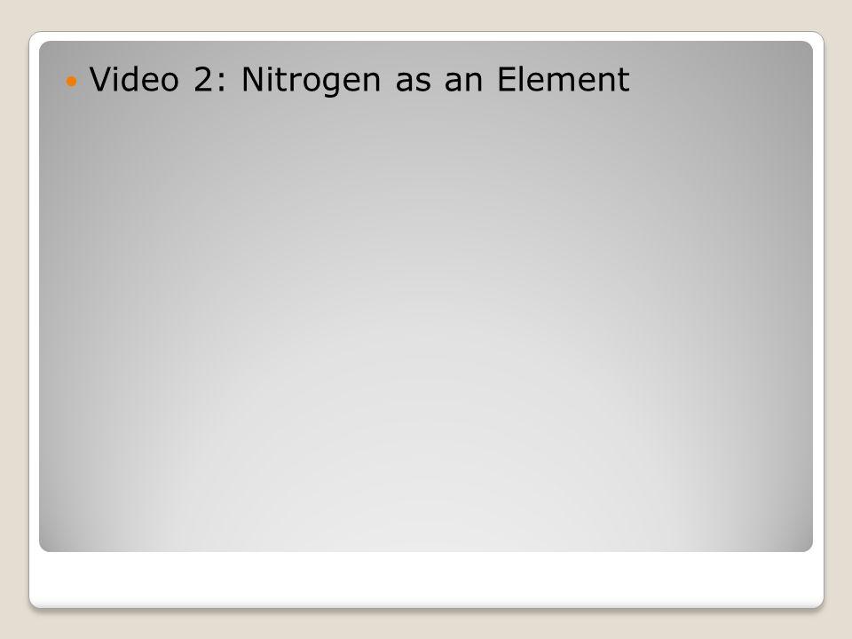 Video 2: Nitrogen as an Element