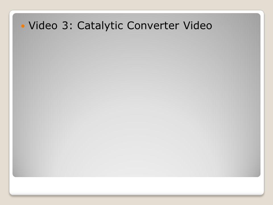 Video 3: Catalytic Converter Video