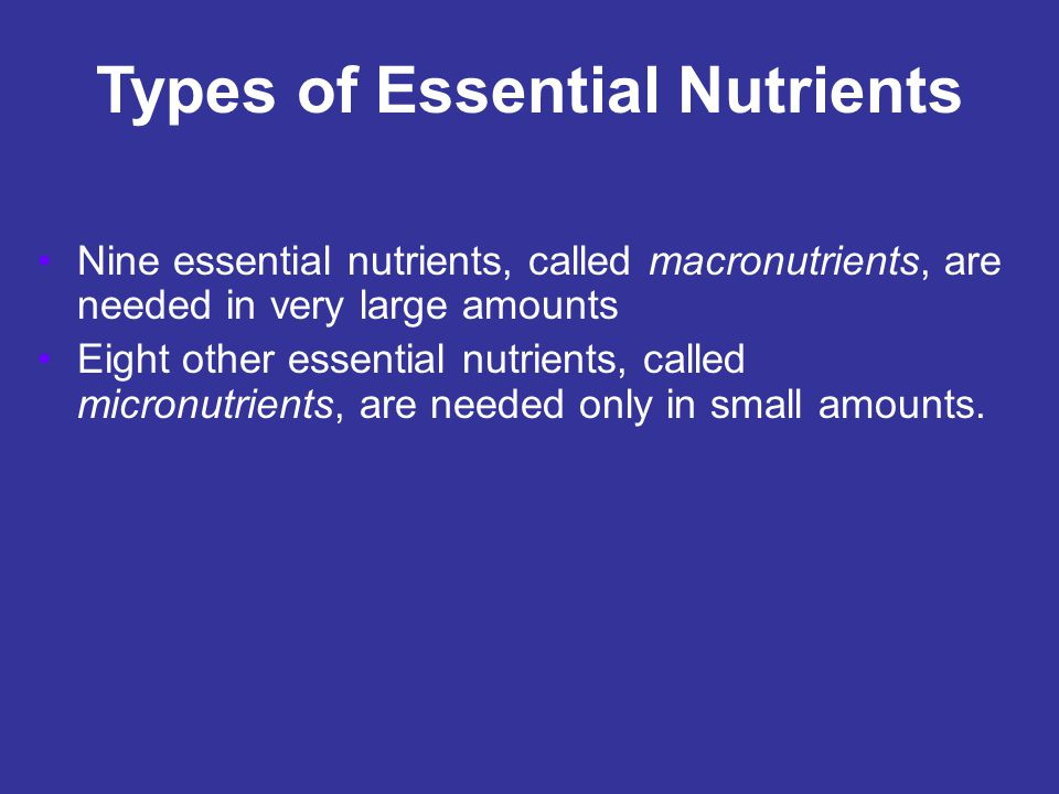 Plant Nutrients Plants absorb many elements, some of which they do not need.