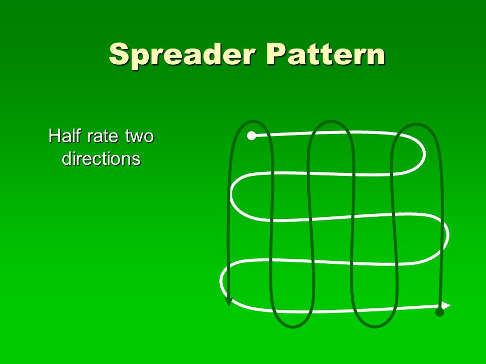 Spreader Pattern Half rate two directions
