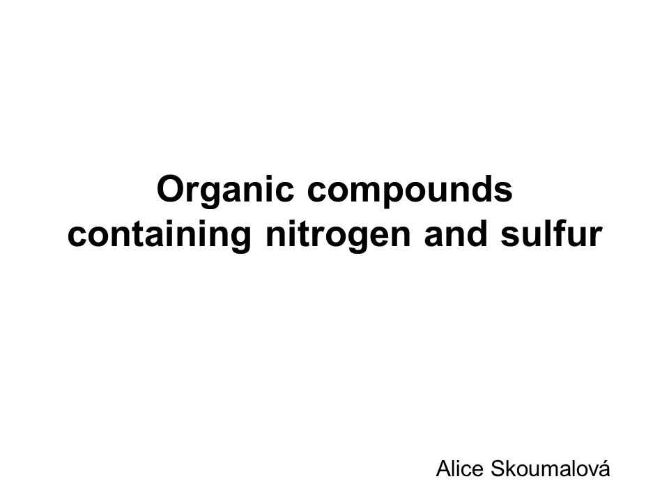 Types of bonds in nitrogen compounds: Nitrogen compounds