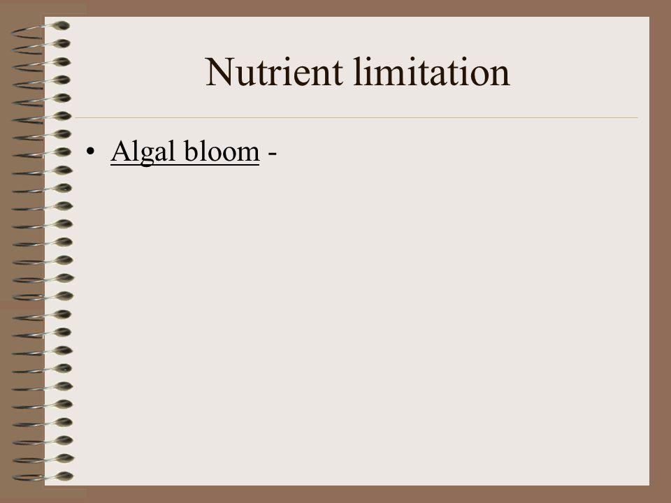 Nutrient limitation Algal bloom -