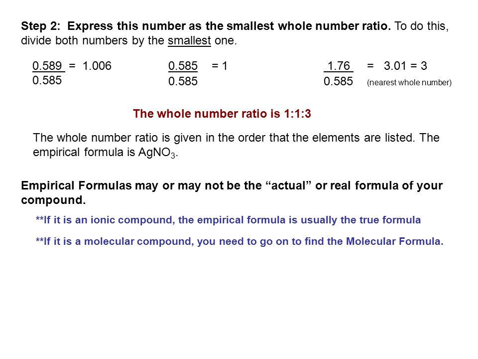 Molecular Formulas: The molecular formula shows the true number of atoms of each kind of element.
