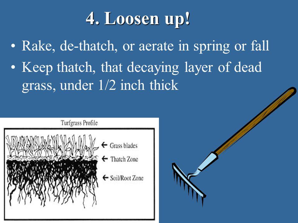 4. Loosen up.
