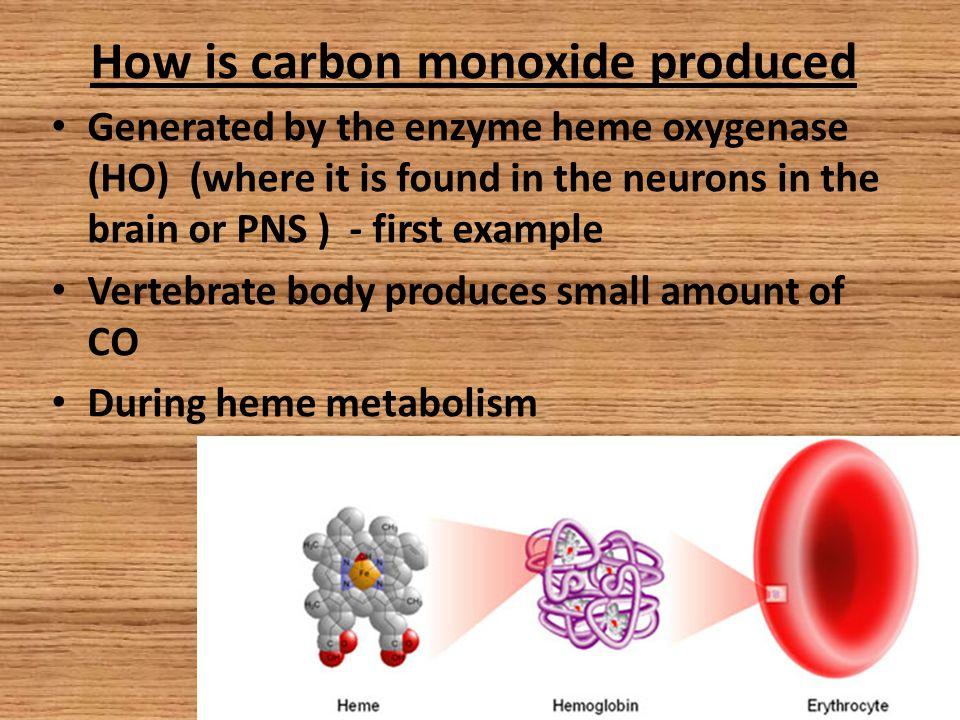 Production of the Carbon Monoxide