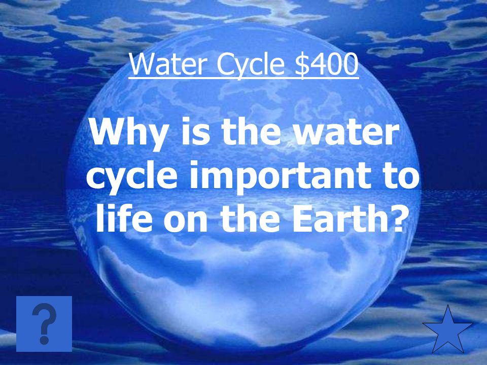 Water Cycle $300 Water vapor