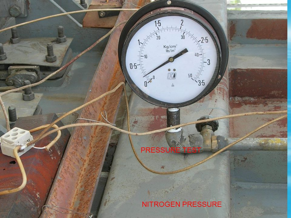 Prepare TRS for evacuation Fill N 2 over air to get pressure 0.2KG/CM2 Attend leakages Process of dryout