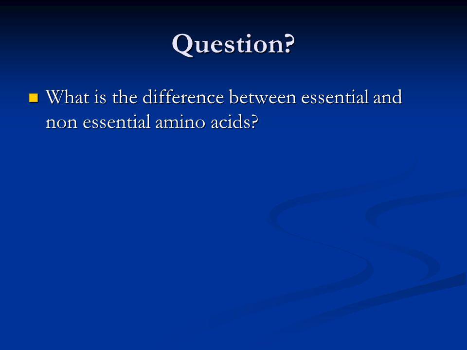 Essential Amino Acids (Must eat these) 1.Histidine 1.