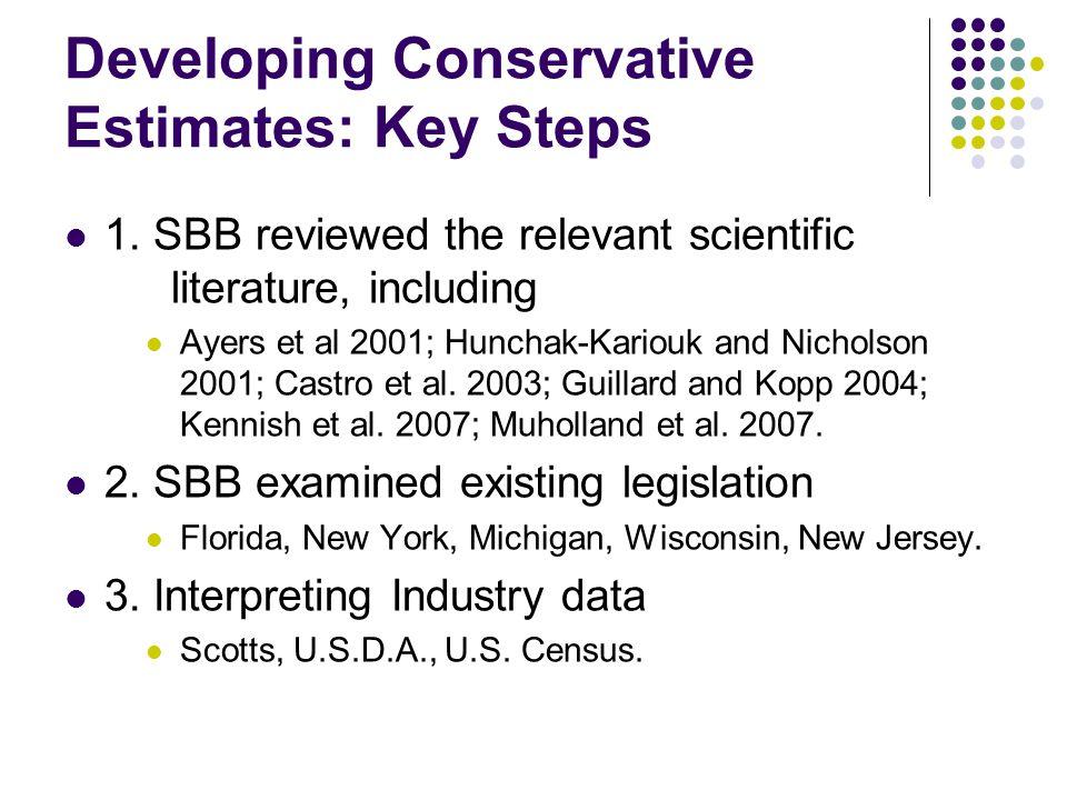 Developing Conservative Estimates: Key Steps 1.