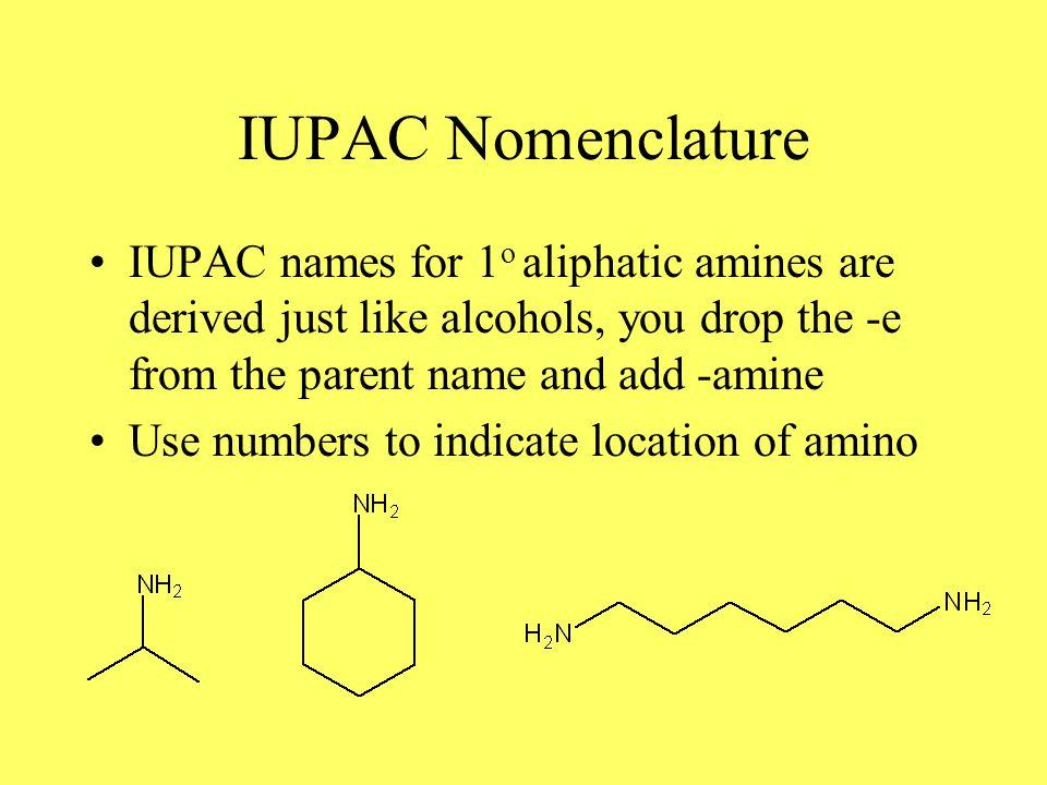 Aromatic Amines IUPAC keeps the common name Aniline: