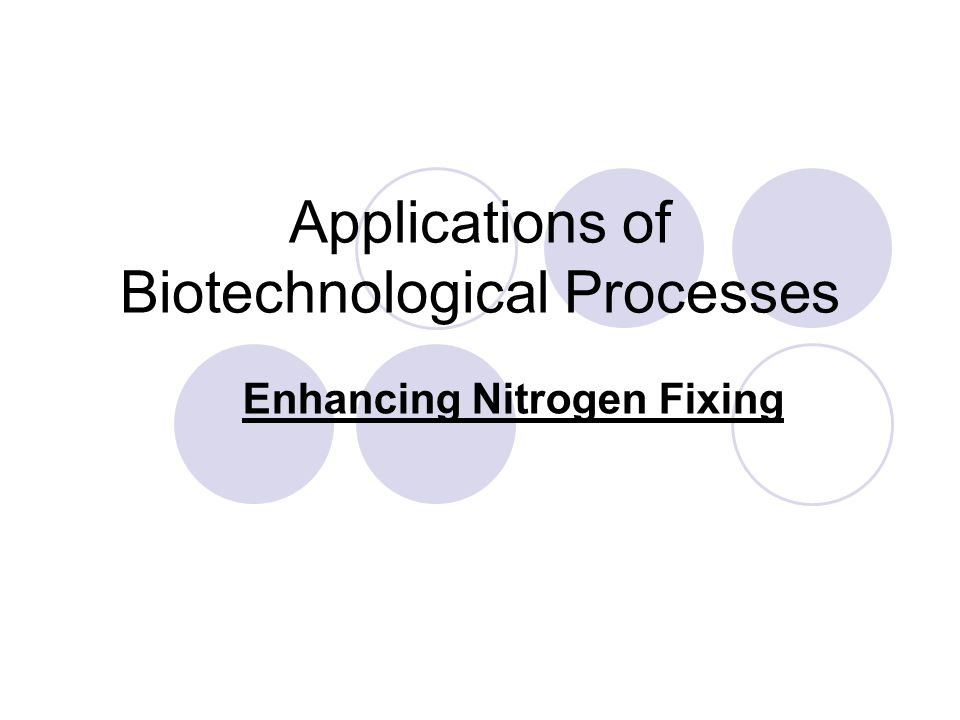 Applications of Biotechnological Processes Enhancing Nitrogen Fixing