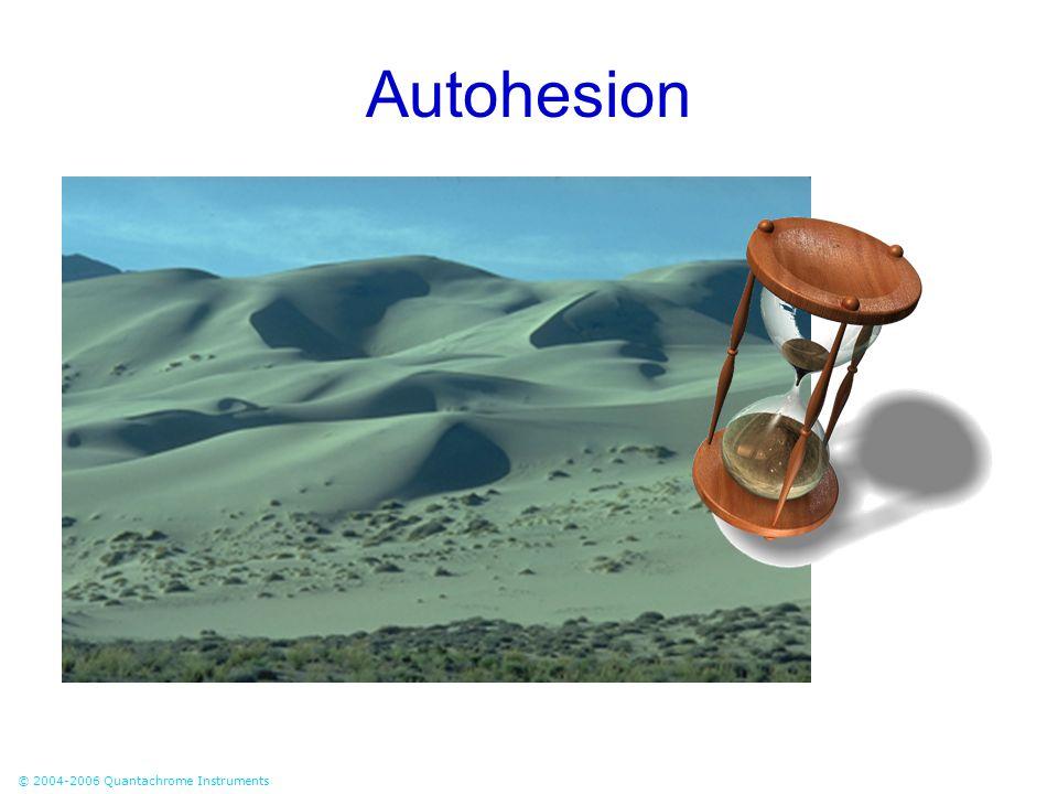 © 2004-2006 Quantachrome Instruments Autohesion