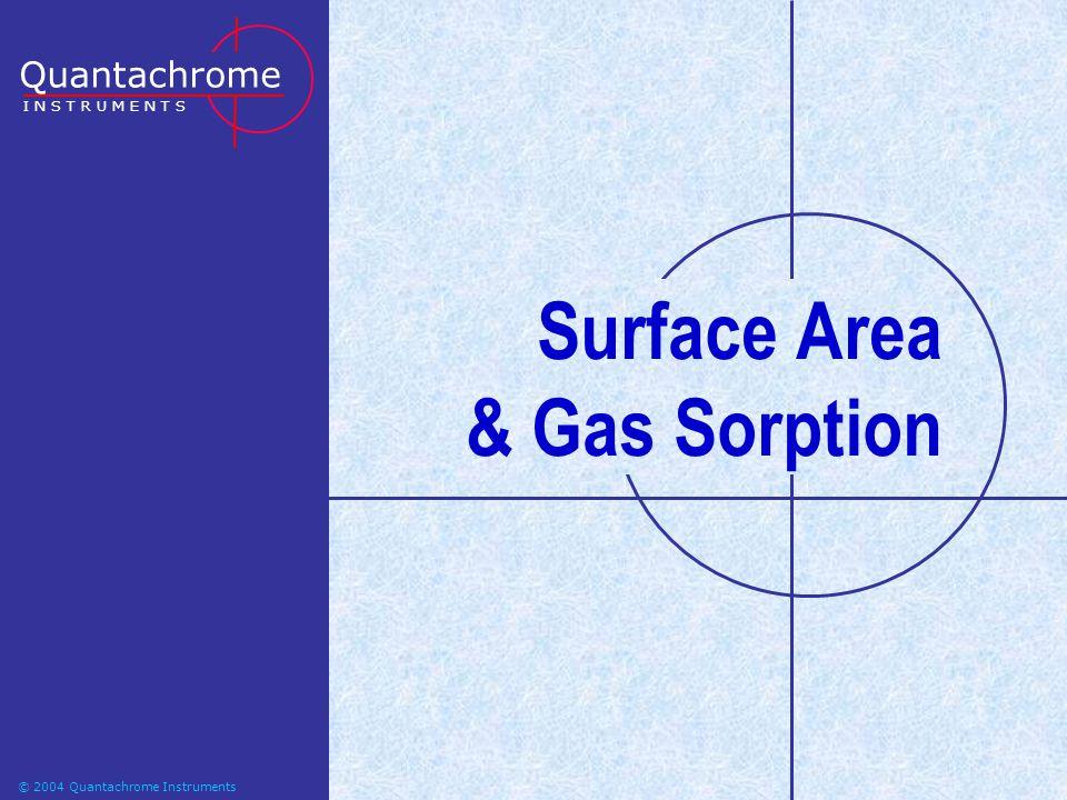 © 2004-2006 Quantachrome Instruments Surface Area & Gas Sorption Quantachrome I N S T R U M E N T S © 2004 Quantachrome Instruments
