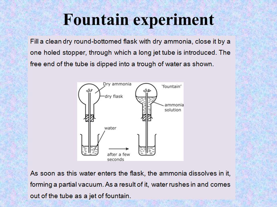 Fountain experiment