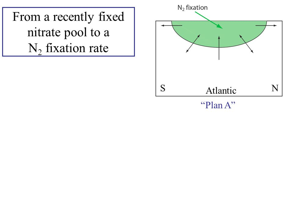 "From a recently fixed nitrate pool to a N 2 fixation rate Atlantic SN SN ""Plan A"" ""Plan B"""
