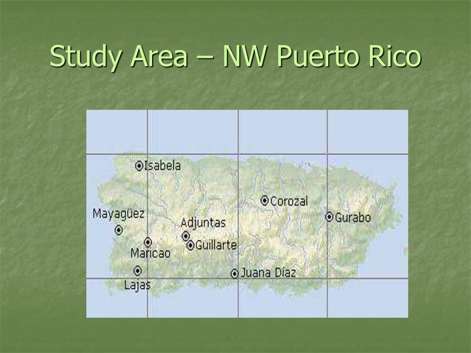 Study Area – NW Puerto Rico
