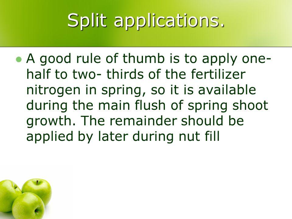 Split applications.
