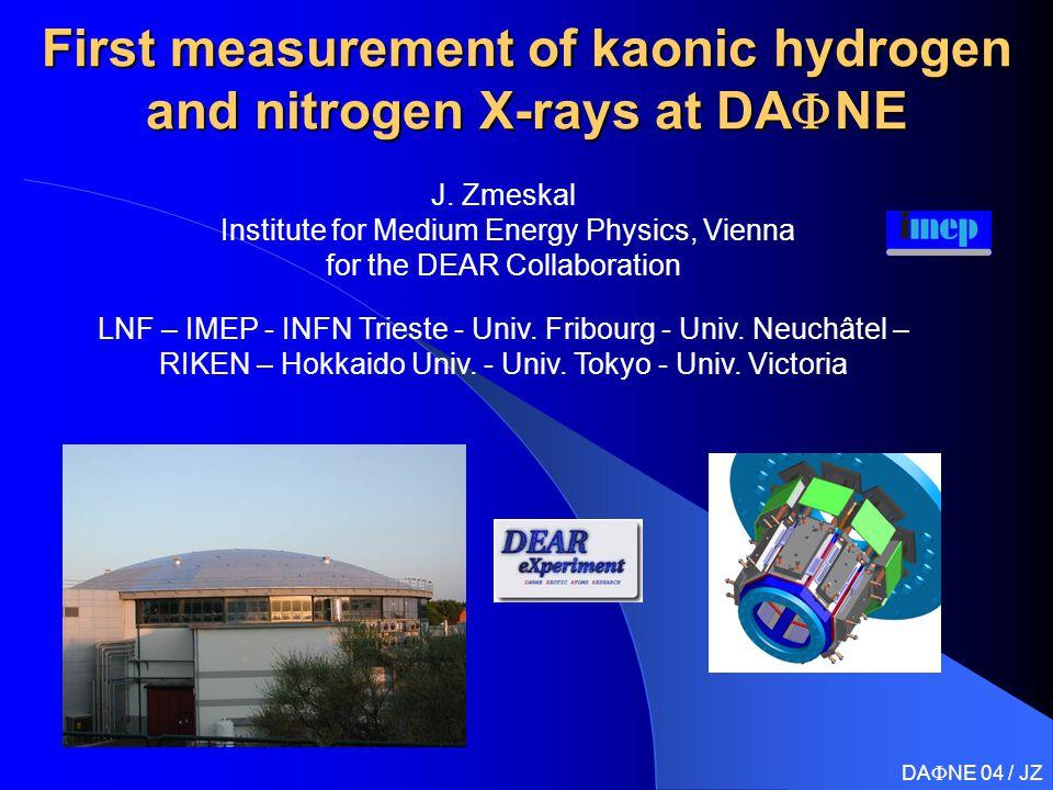 First measurement of kaonic hydrogen and nitrogen X-rays at DA  NE J.