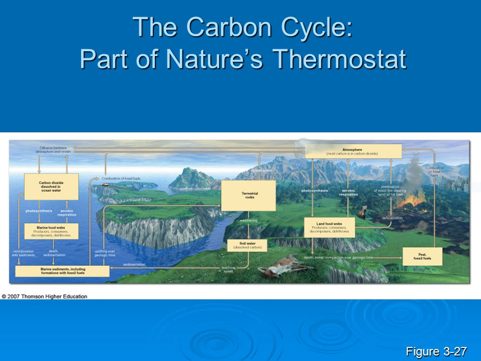 The Carbon Cycle: Part of Nature's Thermostat Figure 3-27