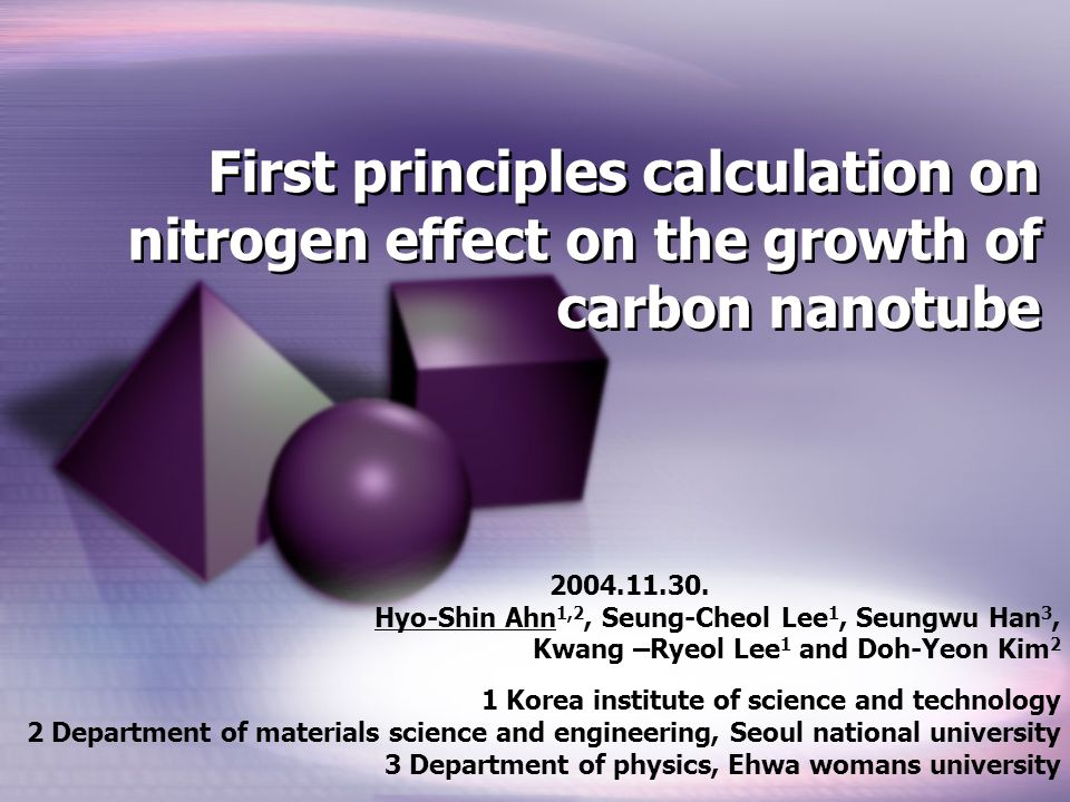 First principles calculation on nitrogen effect on the growth of carbon nanotube 2004.11.30.