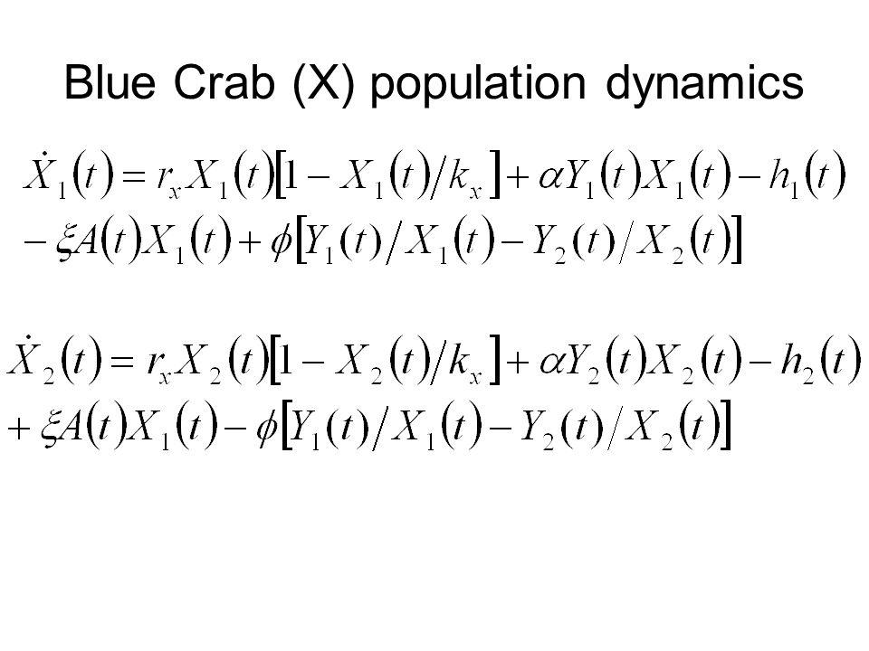 Blue Crab (X) population dynamics