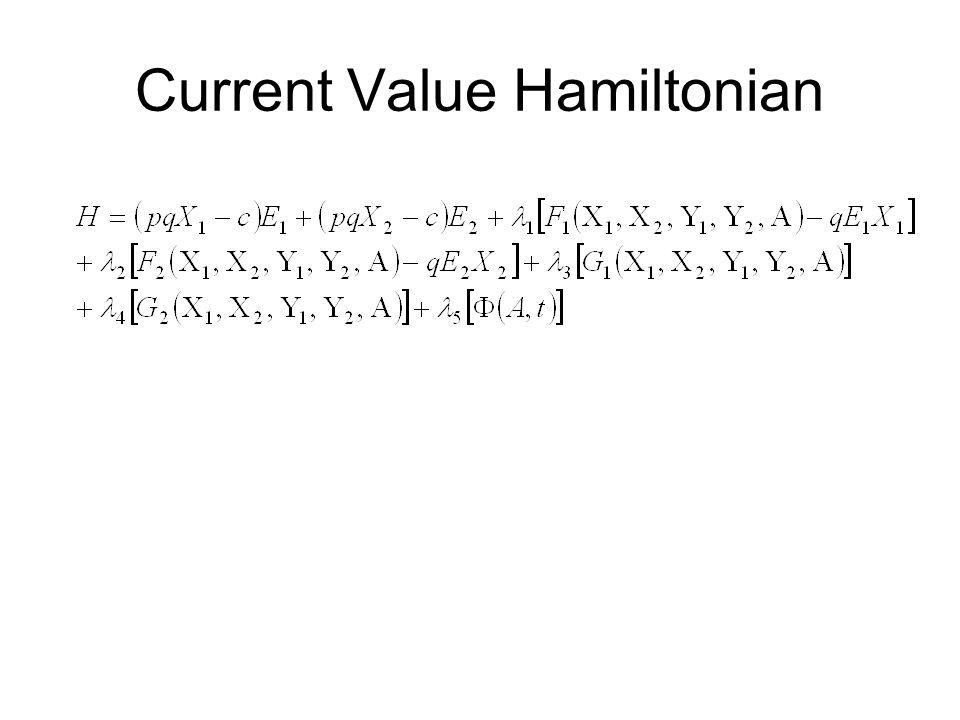 Current Value Hamiltonian