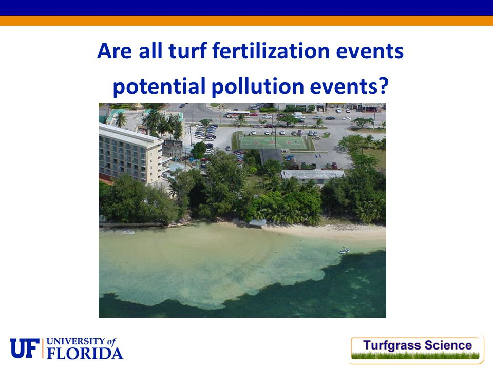 Are all turf fertilization events potential pollution events?