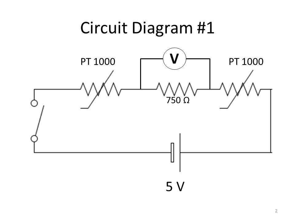 Circuit Diagram #2 V 5 V PT 1000 750 Ω 3