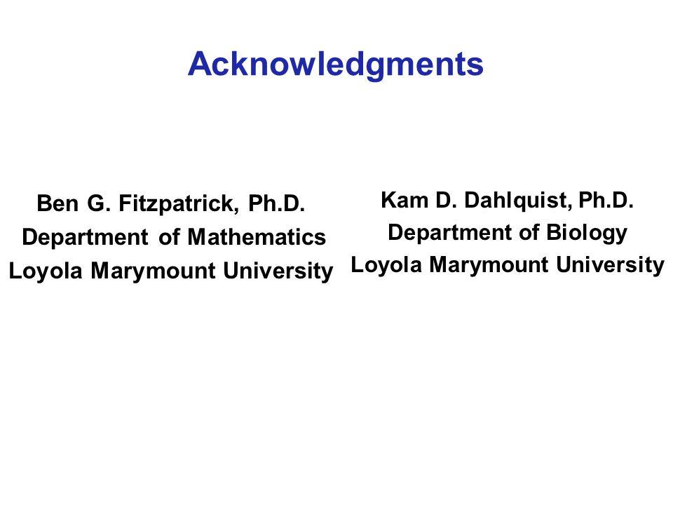 Acknowledgments Ben G. Fitzpatrick, Ph.D.