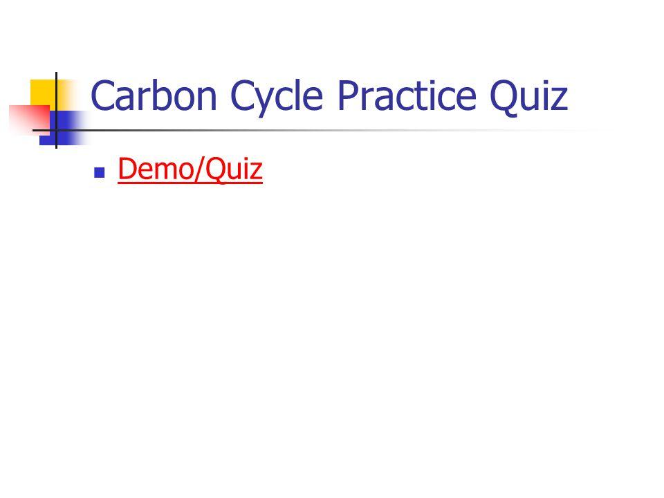 Carbon Cycle Practice Quiz Demo/Quiz