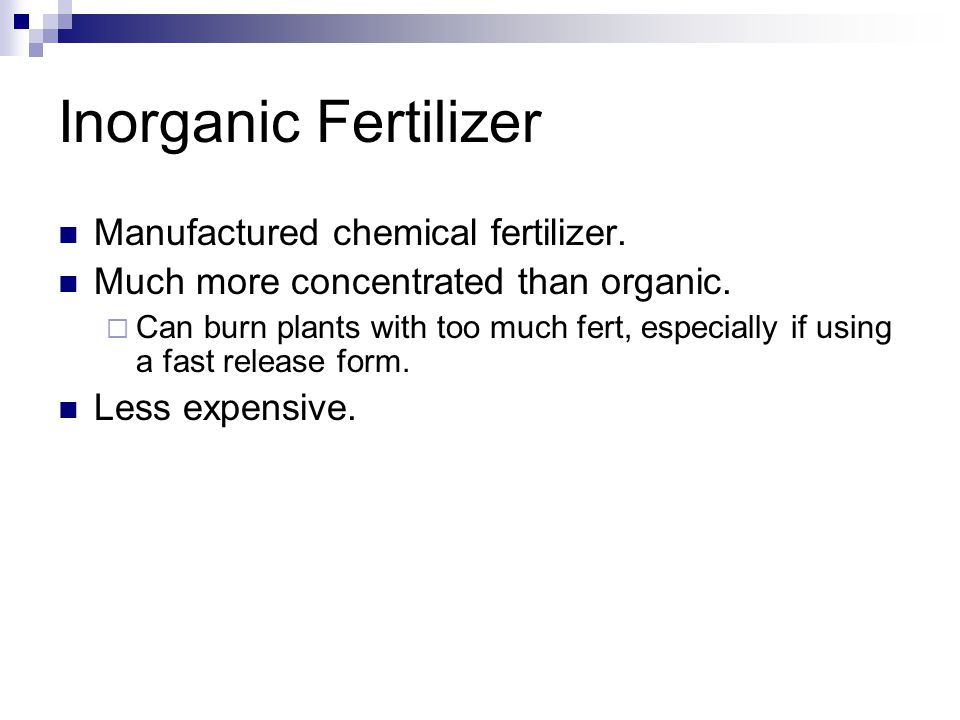 Inorganic Fertilizer Manufactured chemical fertilizer.