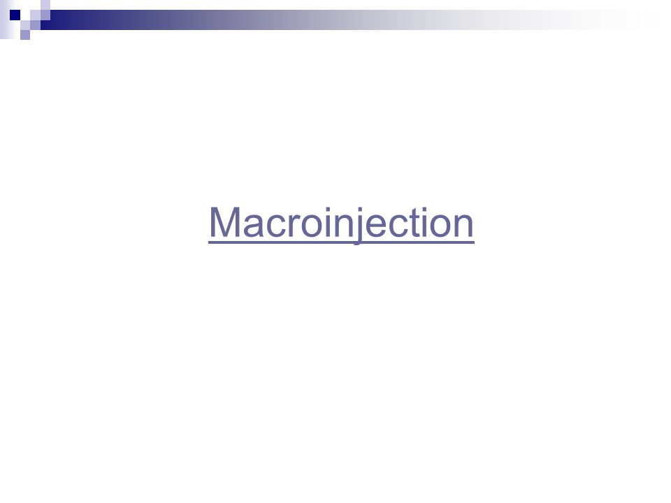 Macroinjection