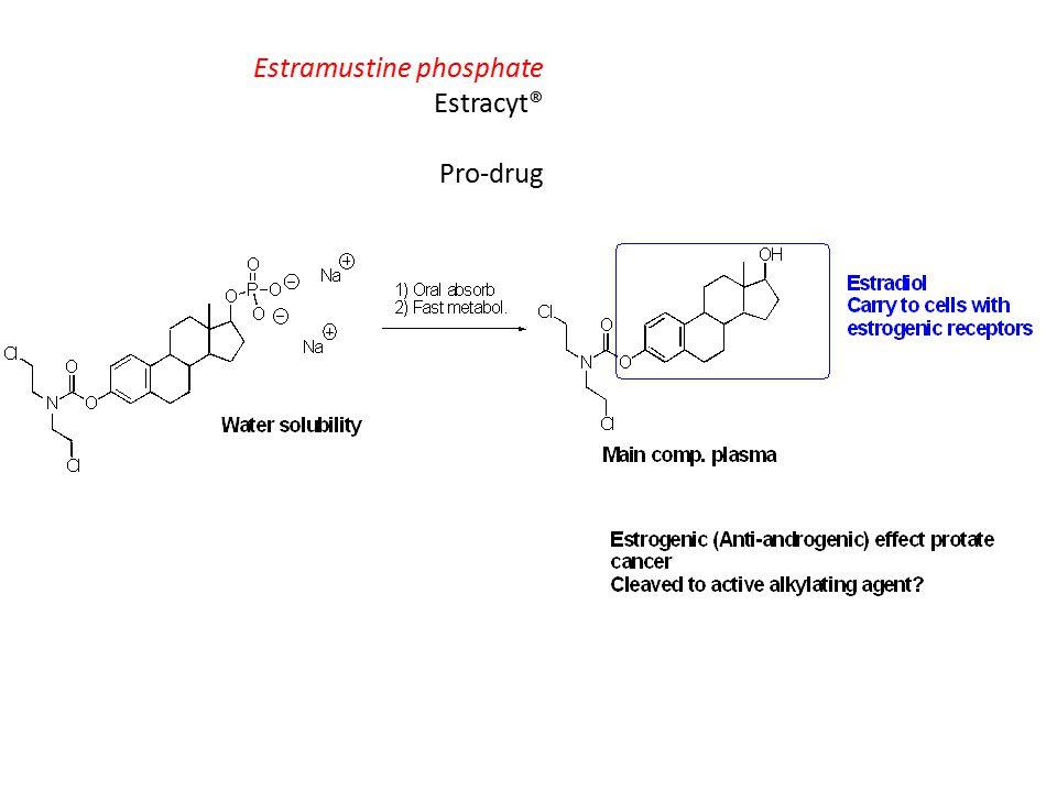 Estramustine phosphate Estracyt® Pro-drug
