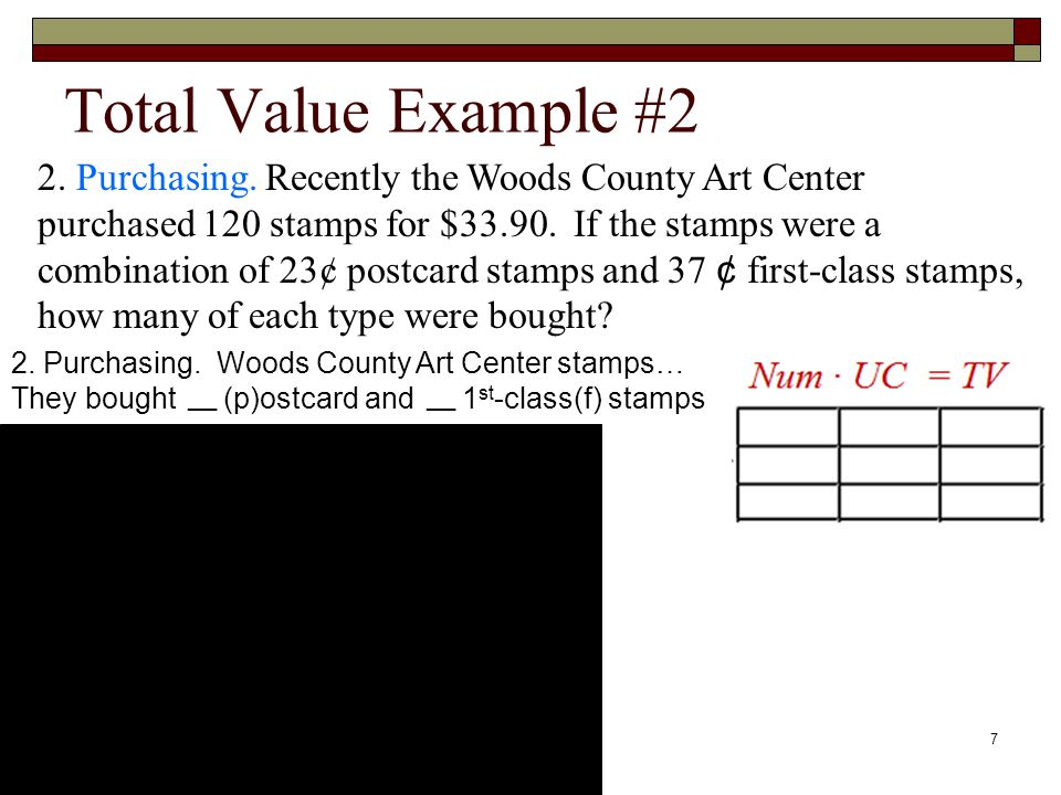 Total Value Example #2 s 2.Purchasing.