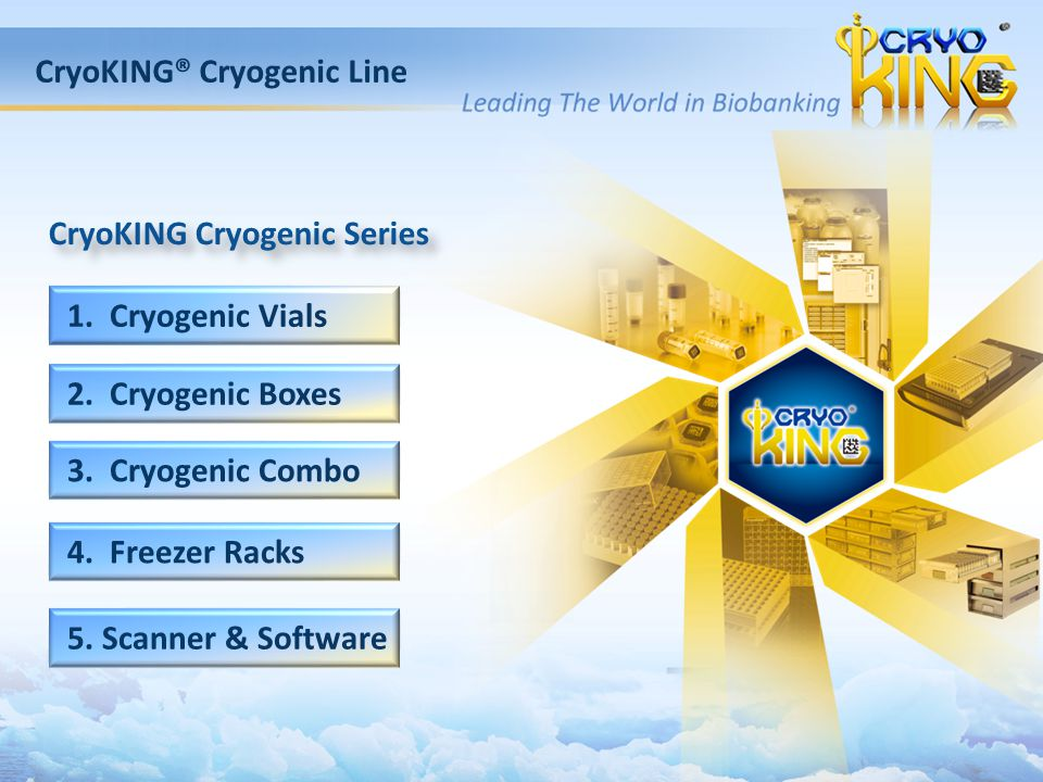 CryoKING® Cryogenic Line CryoKING Cryogenic Series 1.