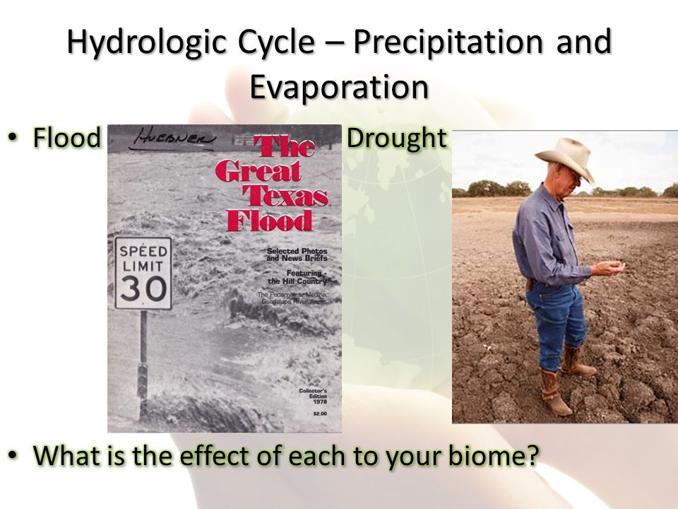 Hydrologic Cycle – Precipitation and Evaporation