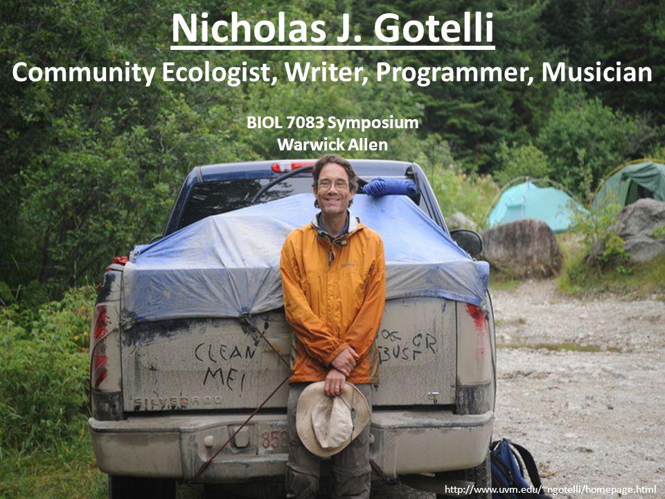 References BIOL 7083 REFERENCES USED FOR NICK GOTELLI PRESENTATION Buckley, H.
