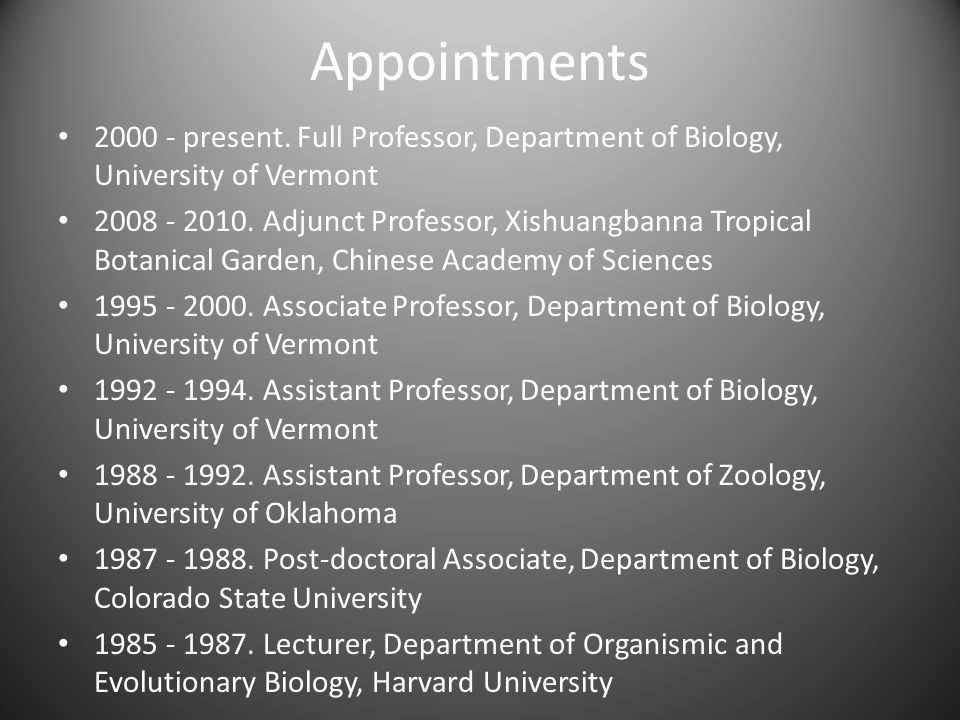 Appointments 2000 - present.