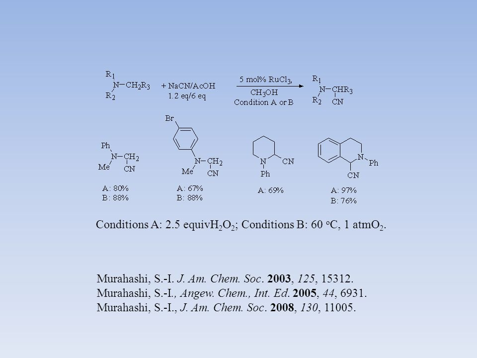 Murahashi, S.-I. J. Am. Chem. Soc. 2003, 125, 15312.