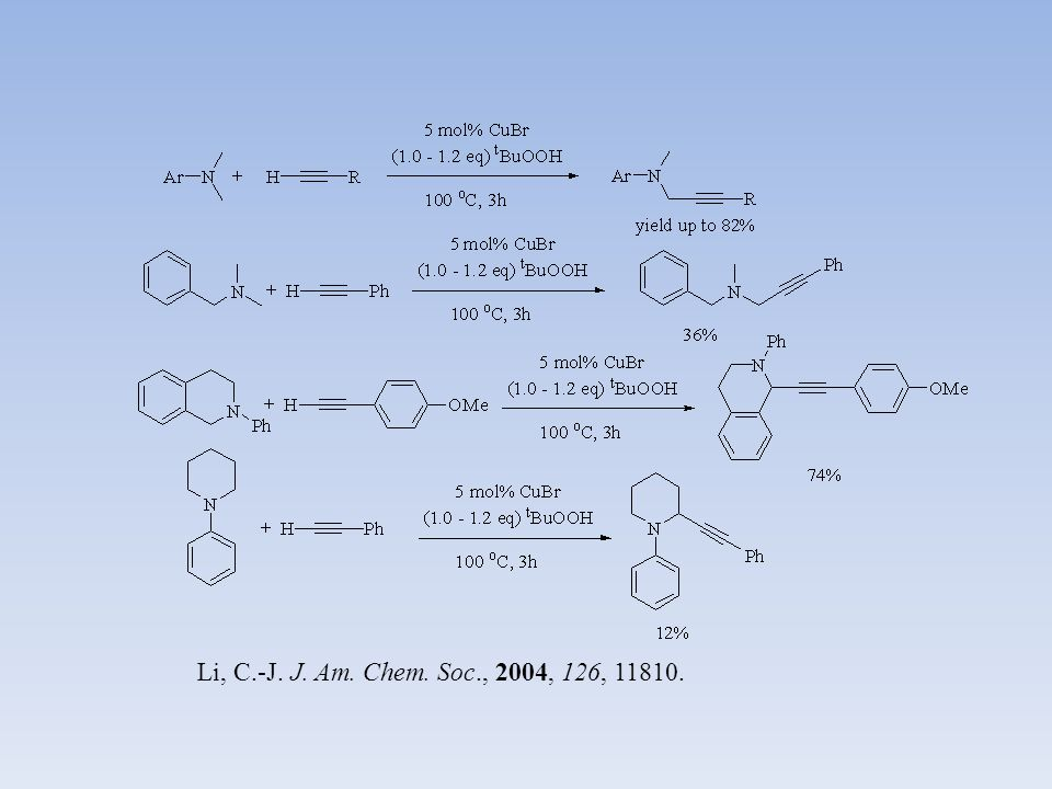 Li, C.-J.Green Chem. 2007, 9, 1047. Li, C.-J. Eur.