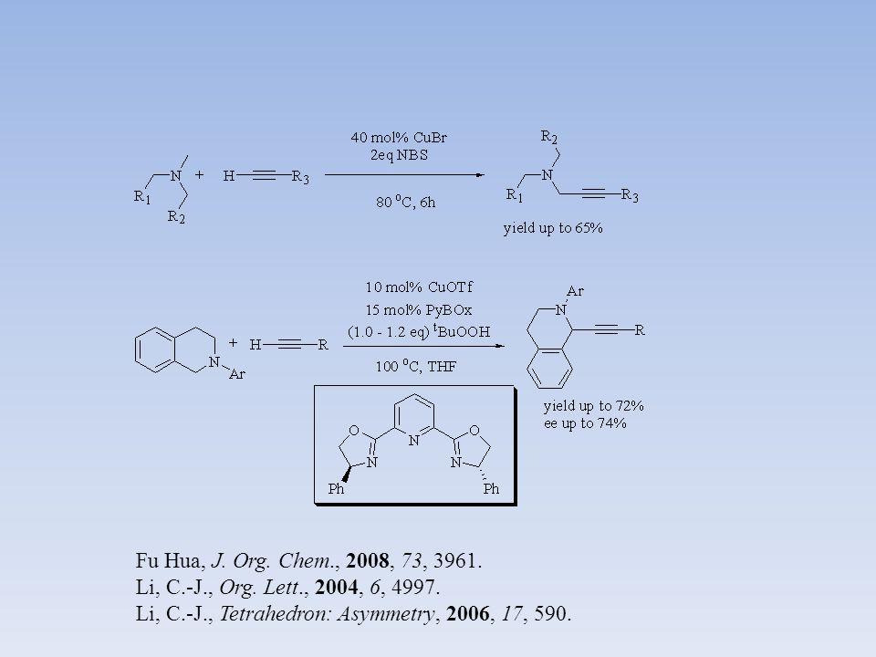 Fu Hua, J. Org. Chem., 2008, 73, 3961. Li, C.-J., Org. Lett., 2004, 6, 4997. Li, C.-J., Tetrahedron: Asymmetry, 2006, 17, 590.