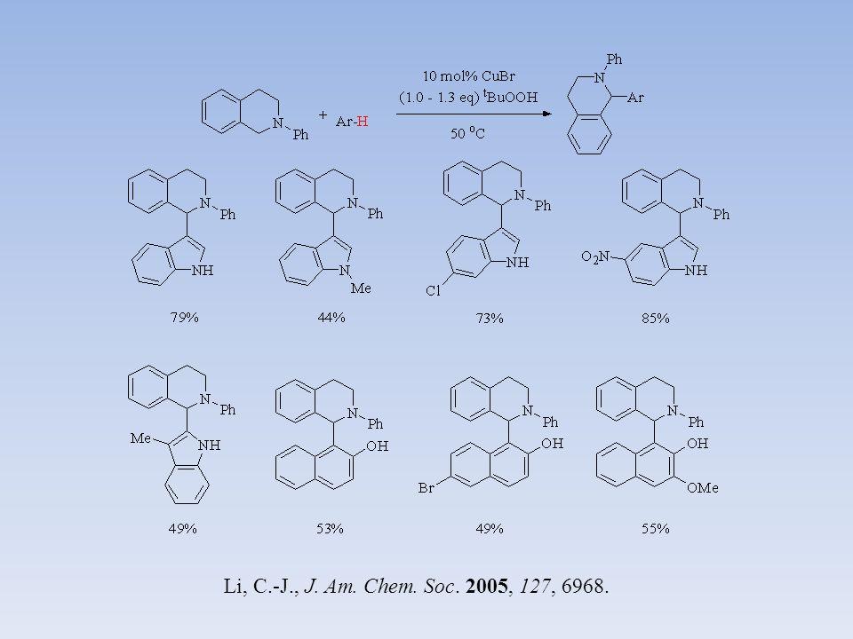 Huang, Z.-Z. Org. Lett. 2010, 12, 5214. Che, C-M., Chem. Commun. 2010, 46, 2739.