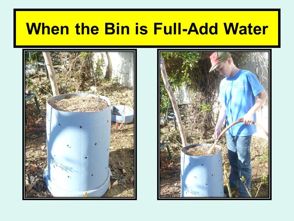 When the Bin is Full-Add Water