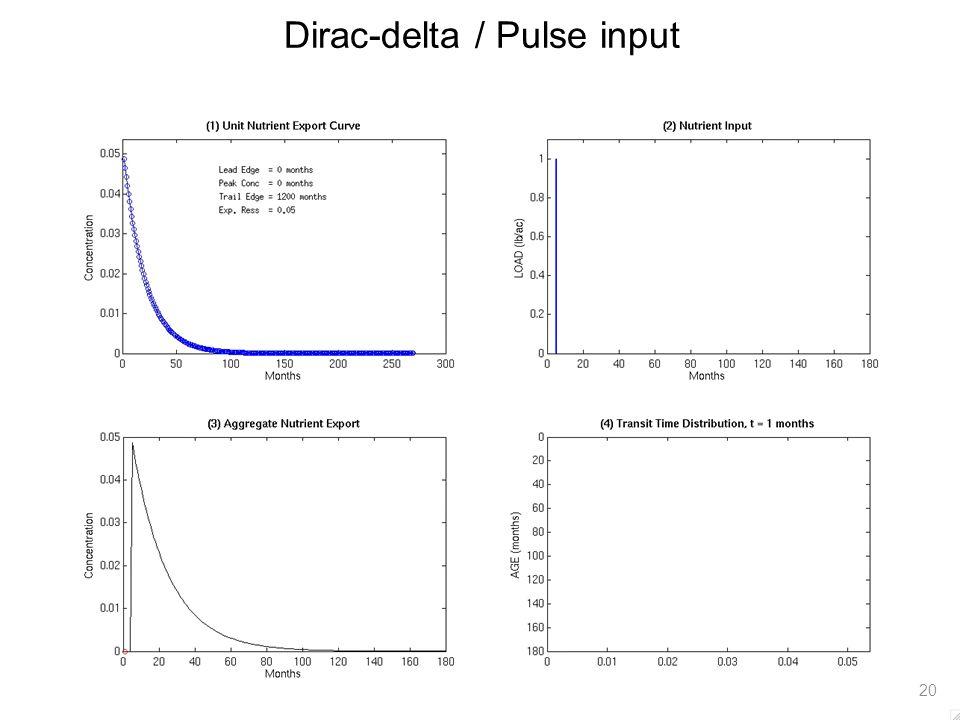 Dirac-delta / Pulse input 20